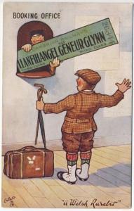 Raphael Tuck Welsh Rarebits Railroad Booking Office Travel Oilette Postcard