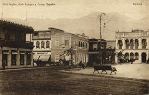 chile, IQUIQUE, Club Inglés, Club Iquique y Casino Español (1910s)