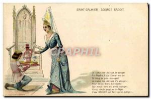 Postcard Old Saint Galmier Source Badoit