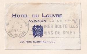 Hotel De Louvre Rue St Agricol Avignon Letter Postmark Frank
