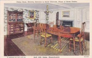 Massachusetts Salem Dining Room Showing Entrance To Secret Staircase House Of...