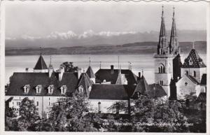 Switzerland Neuchatel Chateau Collegiate et les Alpes Photo