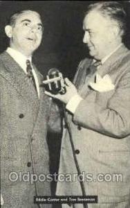 Radio Station Personality Postcard Postcards  Eddie Cantor & Tom Breneman