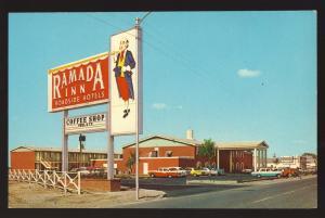Classic Pecos, Texas/TX Postcard, Ramada Inn, Hi-Way 80 & 17