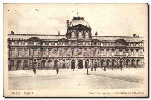 Old Postcard Paris Court of the Louvre Pavilion of & # 39horloge