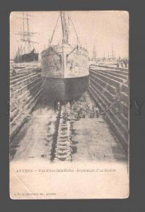 081435 BELGIUM Anvers Vue d'une Cale Seche Reparation d'un Nav
