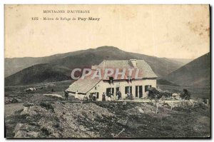 Postcard Old Mountaineering shelter Auvergne House Puy Maru