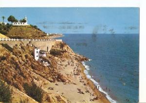 Postal 039829 : Calella de Mar. Playa y faro
