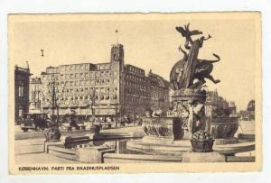 Busy Street Scene & Fountain / Raadhuspladsen,Copenhagen,Denmark 1900-10s