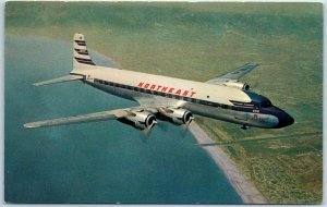Vintage NORTHEAST AIRLINES Advertising Postcard The Grand New Way to Florida
