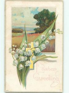 Divided-Back EASTER SCENE Great Postcard AA1421