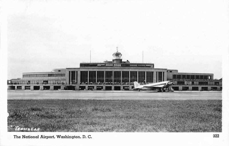 Postcard RPPC The National Airport Washington D.C. Actual Photo Unposted PC5.