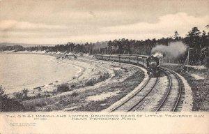 Petoskey Michigan Little Traverse Bay Northland Limited Train Postcard AA20151