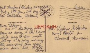 GEE-IT SURE IS SWELL TO GET A LETTER FROM HOME FT. McCLELLAN, AL 1942 Pvt Dishno