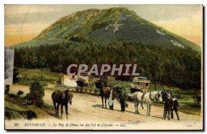 Old Postcard Auvergne Puy de Dome saw the Col de Ceyssat