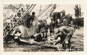 Zeppelin Wreckage Series A Photographic School of Farnborough #11 Postcard