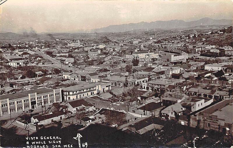 Nogales Son. Mexico Paoramic View RPPC Postcard