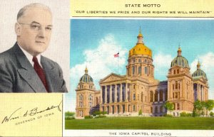 Iowa Des Moines State Capitol Building & William S Beardsley 31st Governor Of...