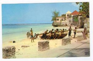 Hauling up Fishing Boat, Barbados, W.I., 50-60s