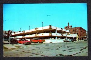 WI City Parking Garage MONROE WISCONSIN POSTCARD