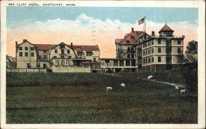 Nantucket MA Sea Cliff Hotel c1920s Postcard