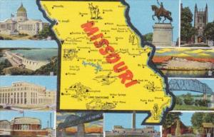 Map Of Missouri With Multi Views