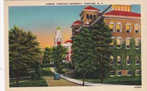 New York Syracuse The Campus Syracuse University 1941