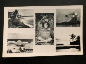 Mint American Samoa RPPC Real Picture Postcard Native Children I Live In Samoa