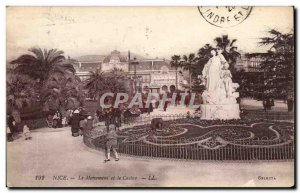 Nice Old Postcard Monument and the casino