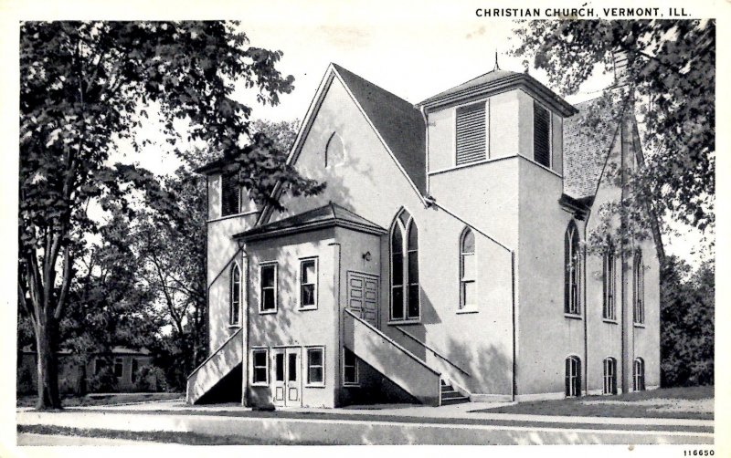 Vermont, Illinois - The Christian Church - c1920