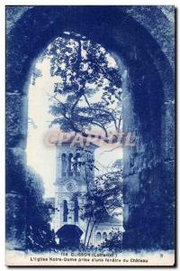 Clisson - The Church of Our Lady of taking a castle window - Old Postcard