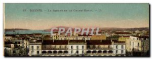 Old Postcard Bizerte The Square and Grand Hotel