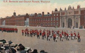 Royal Borough of Greenwich , England , 1907 ; R.A. Barracks & Church Parade ,...