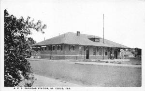 St Cloud FL A. C. L. Railroad Station Train Depot Postcard