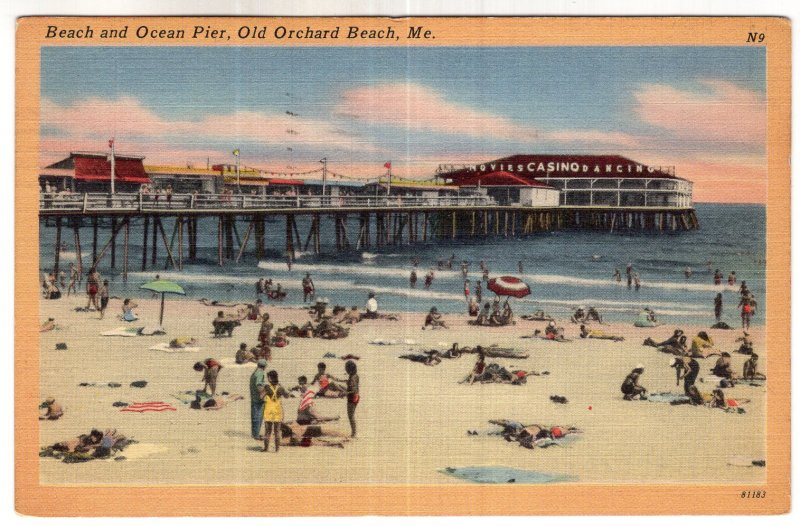Old Orchard Beach, Me, Beach and Ocean Pier
