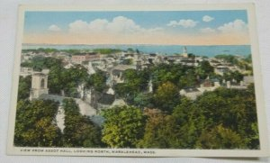 Marblehead MA Looking North from Abbot Hall Bird's Eye View Vintage Postcard