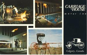 Carriage House Motor Inn Calgary AB Alberta Macleod Trail Hotel Postcard D1