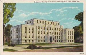 Arkansas Fort Smith Sebastian County Court House & City Hall Curteich