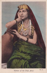 Woman Of The Chief Arab Egyptian Old Postcard