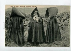 3144555 PORTUGAL AZORES Native Costumes Fayal Capote Vintage PC