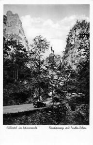 Hoellental im Schwarzwald Hirschsprung mit Paulke-Felsen Auto Vintage Cars