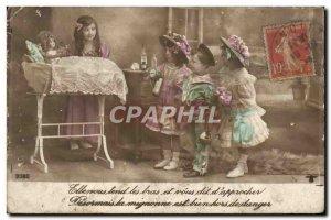 Old Postcard Fantasy Children Doll
