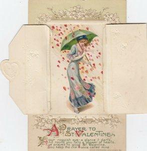 VALENTINE'S DAY ; Artist SCHMUCKER ; Pansy Booklet #2 , 1911 Series by John WINS