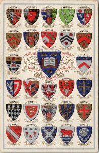 Oxford University Arms Of The Colleges England Unused Postcard F50
