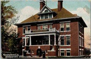 Marshalltown, Iowa Postcard Soldiers HOME Headquarters Building View c1910s
