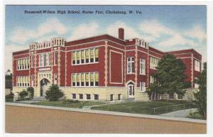 Roosevelt Wilson High School Nutter Fort Clarksburg West Virginia postcard