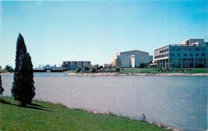 Evanston IL~Evanston Campus~Northwestern University~Lake View~1960s Postcard