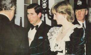 Prince Charles & Princess Diana At 10 Downing Street 1982 Royal Postcard
