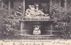Belgium Brussells Fontaine dans la cour de l'Hotel de Ville 1903