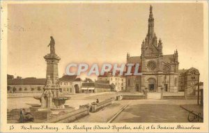 Postcard Old Ste Anne d Auray Basilica and the Fountain Miraculous